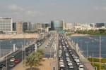 Trafiken flyter bra i Dubai