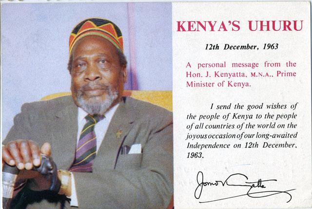 Uhuru betyder frihet i Kenya