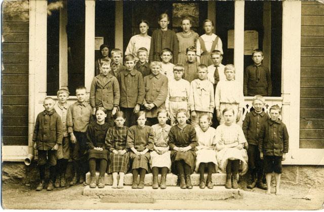 En skolklass från förr