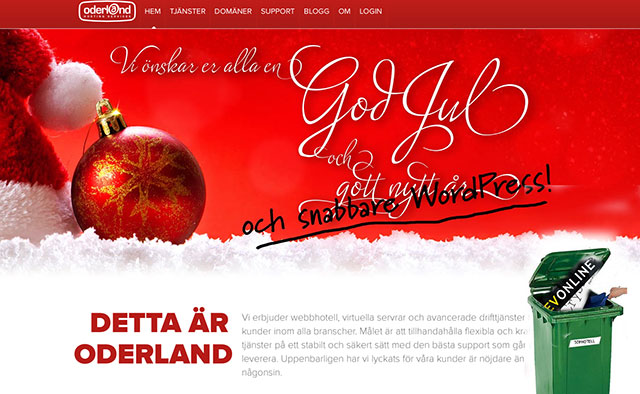 Oderland är ett bättre webbhotell