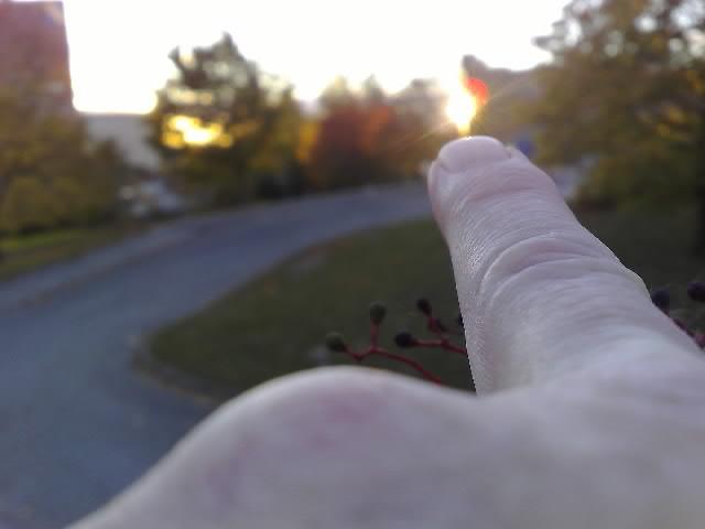brinnande finger