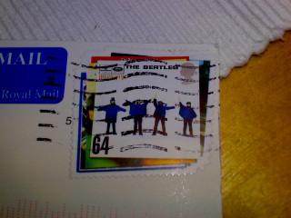 Beatles på frimärke