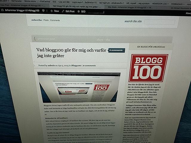 Jag gick med i blogg100 och du kan inte ana vad som hände!