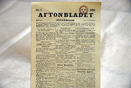 Prylhörnan: Aftonbladets första nummer