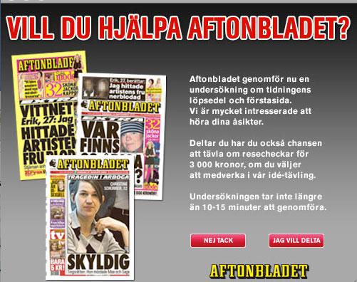 Vill du hjälpa Aftonbladet?