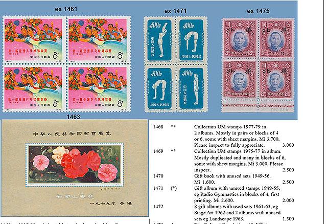 På lördag blir det auktion av den kinesiska minnesboken fylld med frimärken