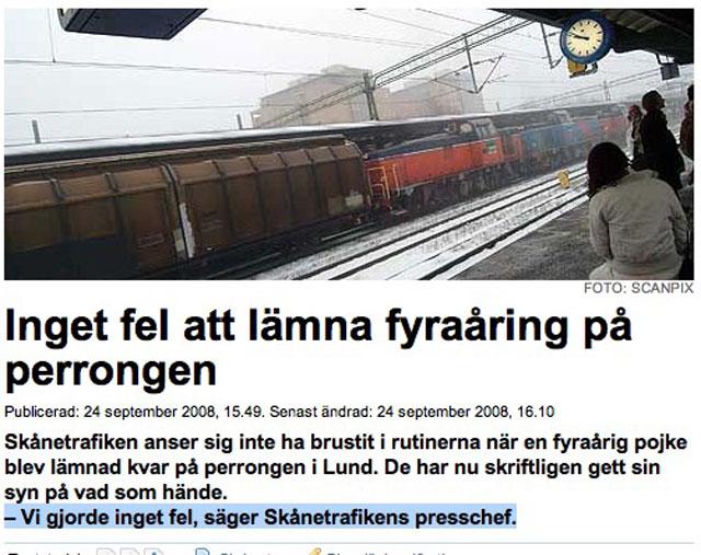 Mer fel kan man inte göra, Skånetrafiken!