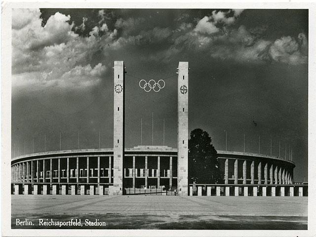 Gymnastikövning inför Berlinolympiaden