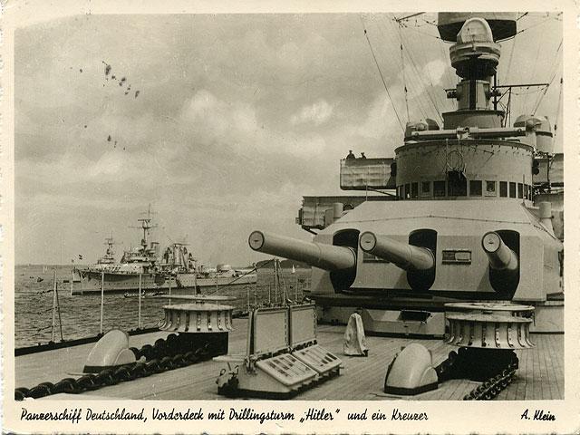 Pansarskeppet Deutschland bombat