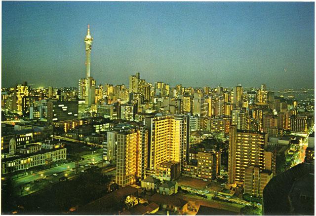 Johannesburg i solen