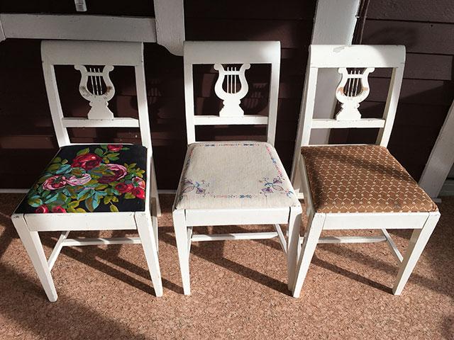 Tre stolar genom tiden