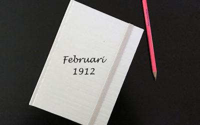 Fredag den 16 februari 1912. Vet inte vad jag ska ta mig till.
