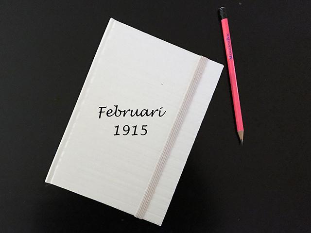 Torsdag den 18 februari 1915.  Han kysste mig till avsked. och jag lät det ske.