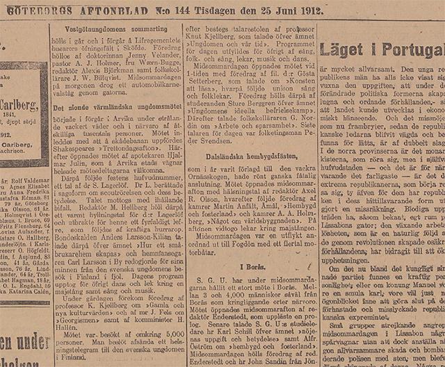 Ungdomsmötet i Arvika 1912