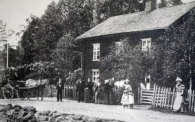 Björklunda, Boudins skjutsstation i Sulvik