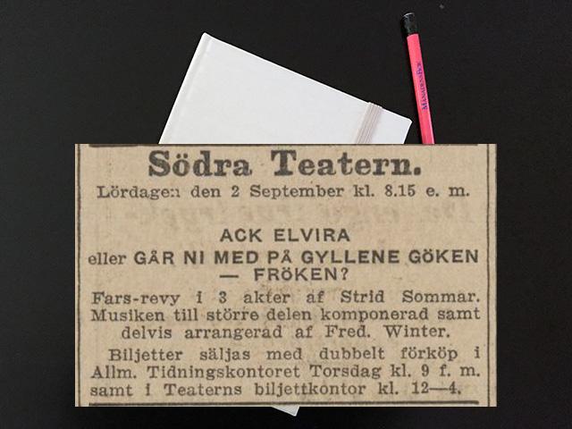 Söndag den 8 oktober 1916. Du milde ett sådant brev till löjtnanten.