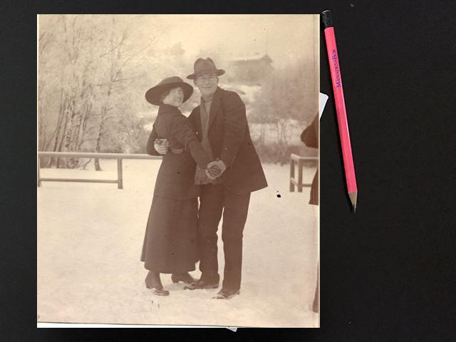 Måndag den 22 mars 1920. En lång promenad i Brunos sällskap.