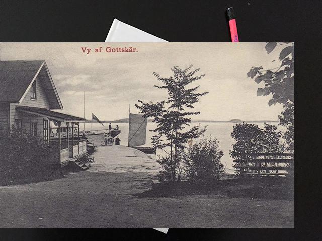 Torsdag den 10 augusti 1916.  Reste iväg till Gottskär.