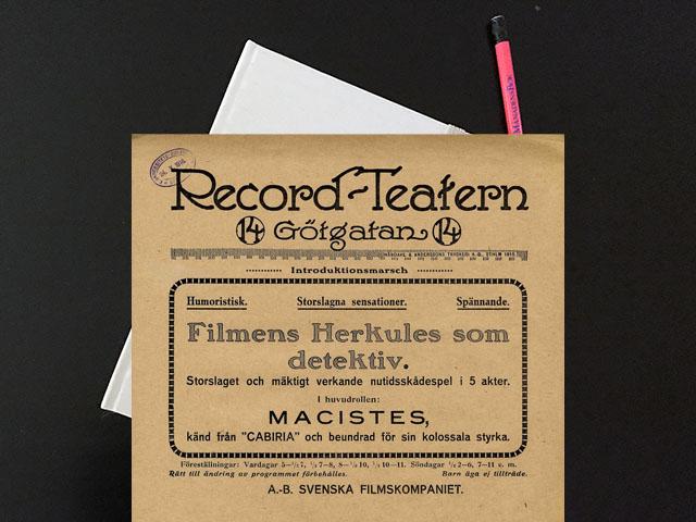 Onsdag den 12 januari 1916. Det var verkligen en Herkules.