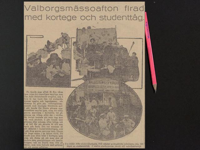 Söndag den 4 maj 1919. Han räckte ut sin hand och tryckte våra!