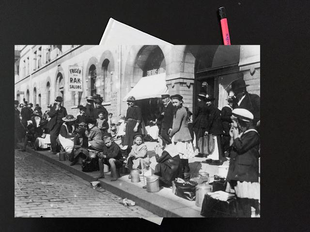 Lördag den 11 maj 1918. Hela tiden pratade vi om mat – förstås.