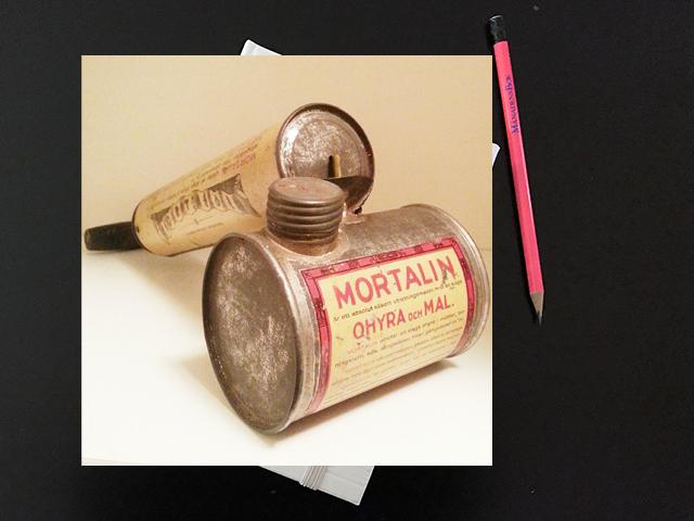 """Fredag den 6 september  1918. Jag smörjer in min säng, väggar och sängkläder med """"Mortalin""""."""