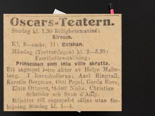 Lördag den 11 januari 1919. Vi gömma känslorna inom oss.