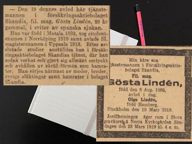 Söndagen den 25 mars 1919. Då rusade jag ut på farstun.
