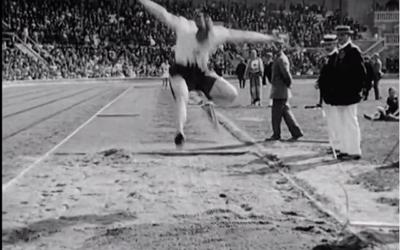 Längdhopparna på Svenska Spelen 1916.