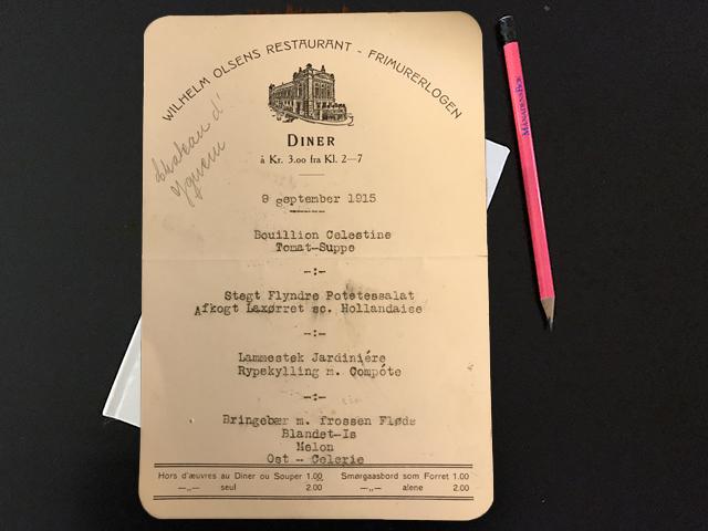 Torsdag 9 september 1915. Resan har varit utomordentlig lyckad.