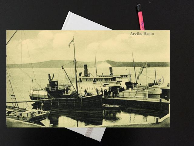Torsdag den 31 juli 1919. Del 2.  Med båt till Arvika.