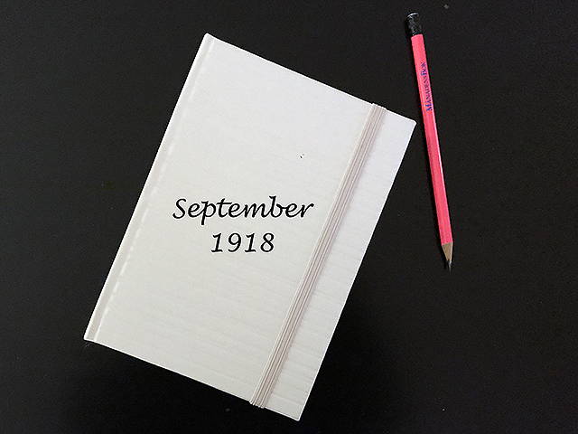 Tisdag den 10 september 1918. Han äter varje dag middag hos oss.