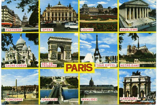 Vykort från Paris